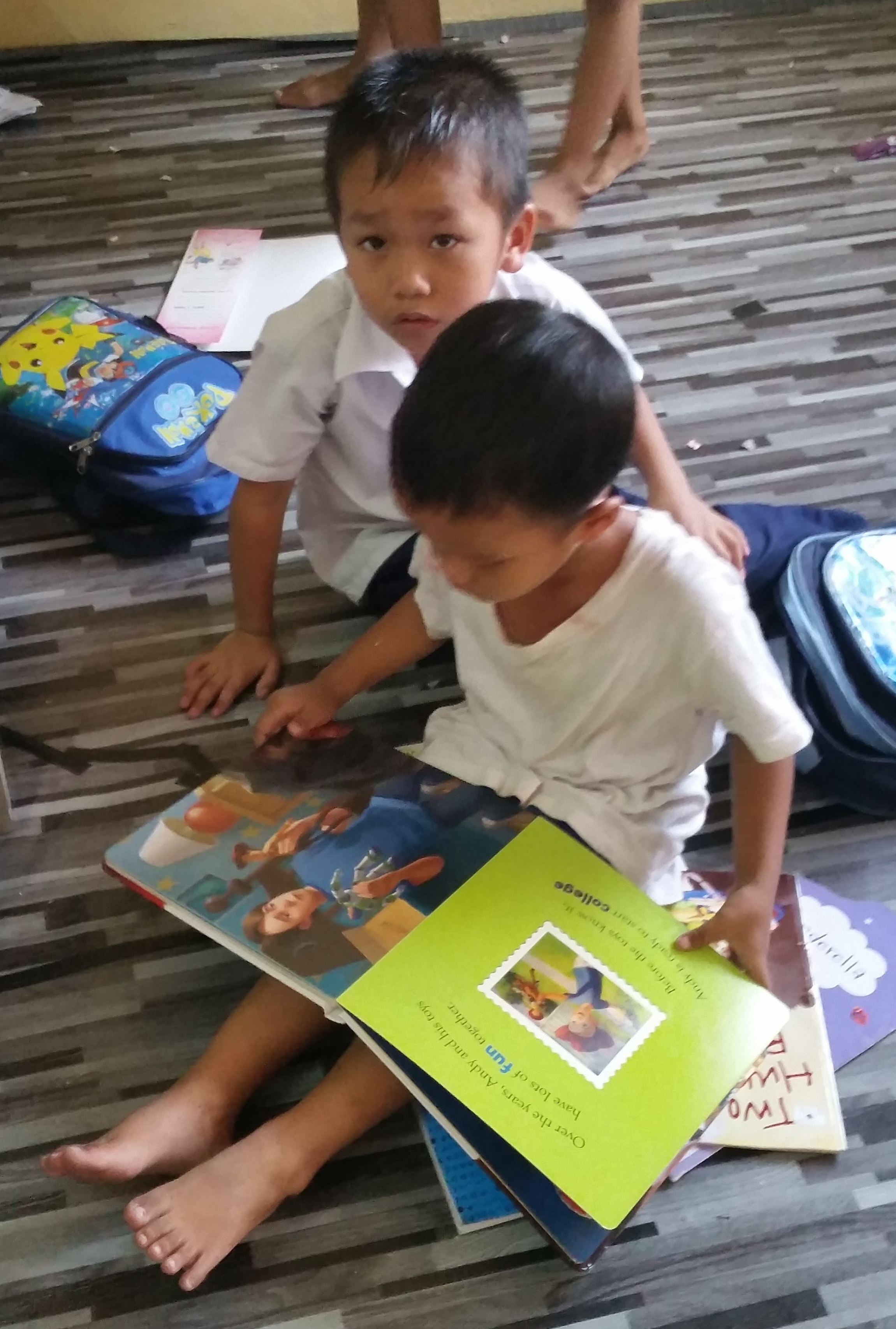 Books at the Myanmar Refugee School in KL