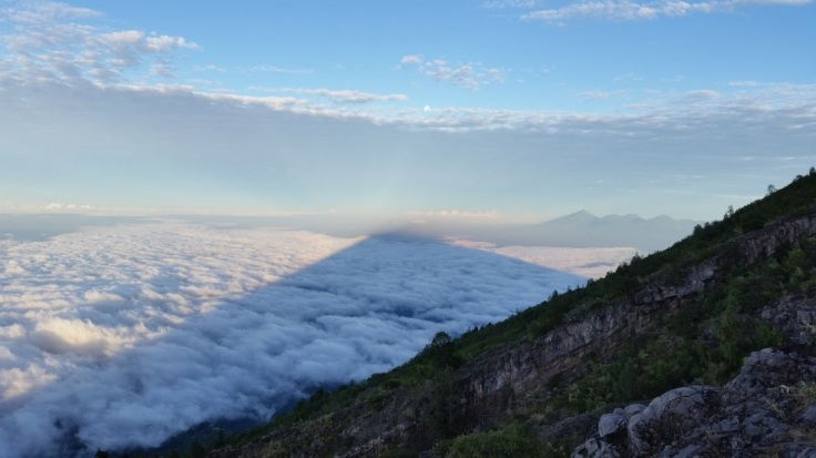Mt. Agung Bali Sunrise shadow